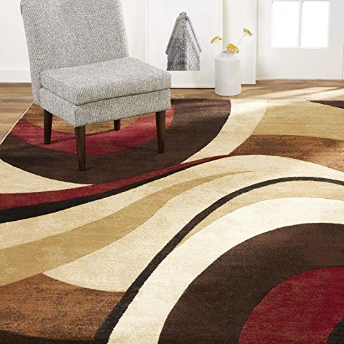 "Home Dynamix Tribeca Slade Modern Area Rug, Abstract Brown/Red 7'10""x10'6"""