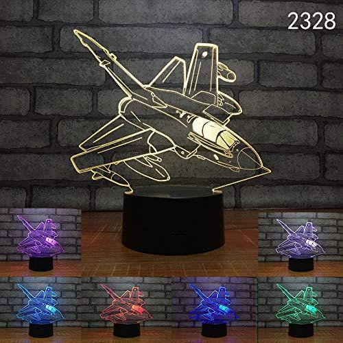 Raumwagen Boot Party Nachtlicht 3D LED USB Tischlampe Kinder Geburtstagsgeschenk Nachtzimmer Dekoration