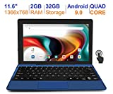 RCA 11 Delta Pro 11.6 Inch Quad-Core 2GB RAM 32GB Storage IPS 1366 x 768 Touchscreen WiFi Bluetooth with Detachable Keyboard Android 9.0 Tablet (11.6', Blue)