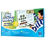 Educational Insights Big Money 3-D Magnetic Coins and Bills: 50 Magnetic Coins & Bills for Currency Counting Skills & Pretend Play, Ages 5+
