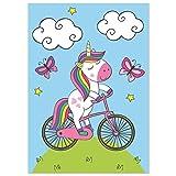 kizibi® Póster de Unicornio DIN A2 para habitación de niños y bebés, póster...