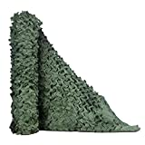 TENCEN カモフラージュネット 迷彩ネット 偽装網 ギリーネット サンシェード 日除け 風通し 目隠し キャンプ 野外活動 サバゲー 野鳥撮影 狩猟 家の装飾 (グリーン、2×3M)