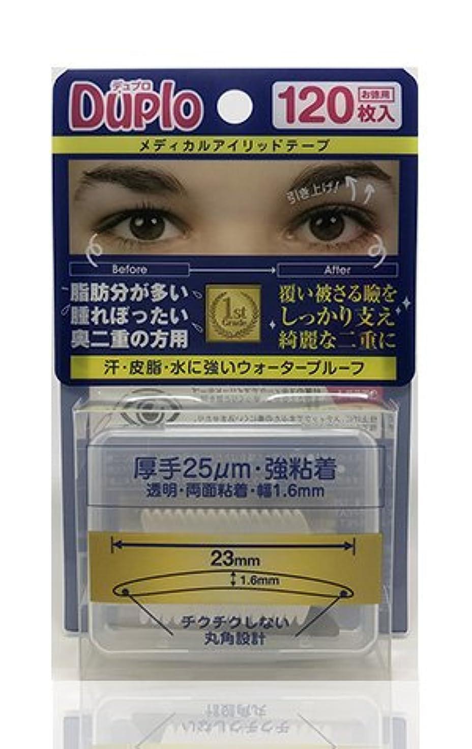 前書き起きるようこそDuplo デュプロ メディカルアイリッドテープ 厚手 25μm 強粘着 (眼瞼下垂防止用テープ) 透明?両面 120枚入