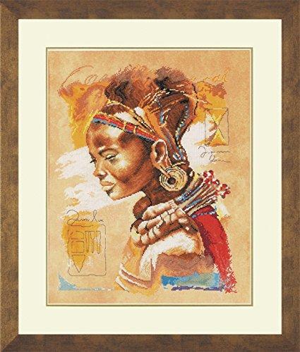 Lanarte PN-0008009 contadas Kit de Punto de Cruz, diseño de Mujer Africana, Otras Formas de Cuadros