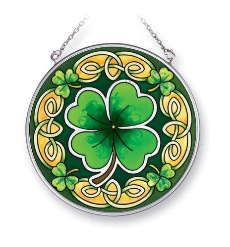 Amia 41401 Celtic Leaves 4-1/2-Inch Circle Sun Catcher, Medium