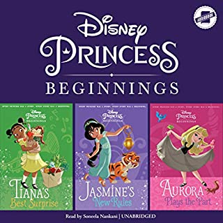 Disney Princess Beginnings: Jasmine, Tiana & Aurora audiobook cover art