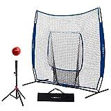 Pinty 7' x 7' Baseball and Softball Practice Net Portable Hitting Batting Training Net...