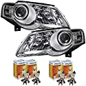 QR-Parts 69442743 Set HELLA Scheinwerfer links 1089819 + Scheinwerfer rechts 1089818 + PHILIPS H7 Vision +30% 12972PRC1 (4-Stück)