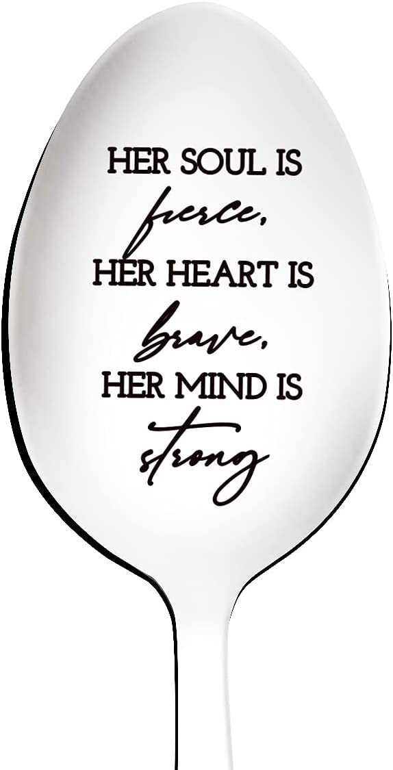 Her Soul is Fierce Spoon Stainless New arrival Inspirational Engraved Indianapolis Mall Steel