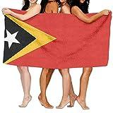 52x32 Inch Strandtuch Tragbares Fitnesshandtuch Hamamtuch,Osttimor Flagge für Spa Fitness Yoga