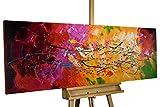 KunstLoft® Acryl Gemälde 'Lucid Dream' 150x50cm   original handgemalte Leinwand Bilder XXL   Abstrakt Bunt Bunt   Wandbild Acrylbild Moderne Kunst einteilig mit Rahmen