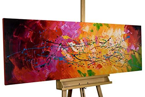 KunstLoft® Acryl Gemälde 'Lucid Dream' 150x50cm | original handgemalte Leinwand Bilder XXL | Abstrakt Bunt Bunt | Wandbild Acrylbild Moderne Kunst einteilig mit Rahmen