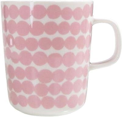 マリメッコ Marimekko マグカップ 250ml 食器 Siirtolapuutarha シイルトラプータルハ ホワイト×ピンク 63296 103 [並行輸入品]