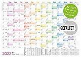 Wandkalender 2022 A2 (59 x 42 cm) gefalzt [Rainbow] für 14 Monate Dez 2021 - Jan 2023 | Wandplaner mit Ferien- und Feiertage-Übersicht + extra A3 & A4 Kalender | nachhaltig & klimaneutral