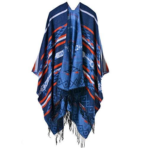 Vigck herfst/winter sjaal mode nationale poncho vrouwen sjaal mantel luxe kwast kasjmier sjaals warm pashmina