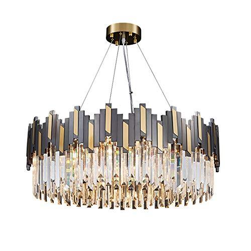 LITFAD Wavy Prismatic Crystal Hanging Lamp Postmodern 8-Light Dining Room Ceiling Chandelier LED Art...
