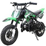 X-PRO 70cc Dirt Bike Pit Bike Kids Dirt Pit Bike 70cc Child Dirt Bike Dirt Pitbike(Green)