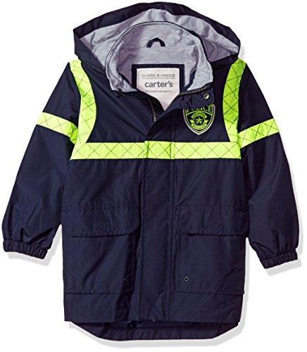 Carter's Boys' Toddler Little Man Rainslicker Rain Jacket, Policeman Yellow, 3T