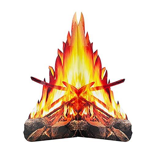 NXACETN Hoguera De Cartón, Fuego Artificial Llama 3D Cartulina Decorativa Adorno De Llama De Halloween Pascua Navidad Pila De Fuego Hoguera 4