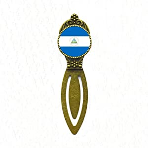 Nicaragua National Flag North America Country Bookmark Retro Office Label Page Marker