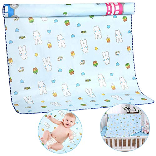 Waschbar Baby Wickelunterlage, Baby Matratzenschoner, Inkontinenzauflage wasserdicht waschbar, atmungsaktiv, saugfähige Betteinlagen für Kinder Baby, Matratzenschutz für Erwachsene Schwangere Haustier