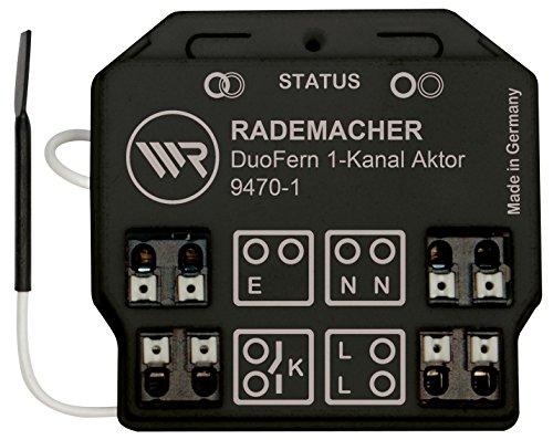 DuoFern Universal-Aktor (1-Kanal) 9470-1 - Funkfähiger Unterputz-Aktor für Licht und elektrische Verbraucher mit hoher Schaltleistung