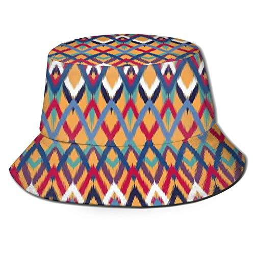 Hdadwy Sombrero de cubo Sombrero para el sol Protección UV Gorra de pescador Sombreros lavados de ala ancha para hombres Mujeres Gorra para exteriores Senderismo Playa Canotaje Grupo de líneas irregul