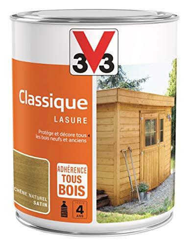 V33 Lasure Classique 4 ans, Chêne Naturel, 1 L