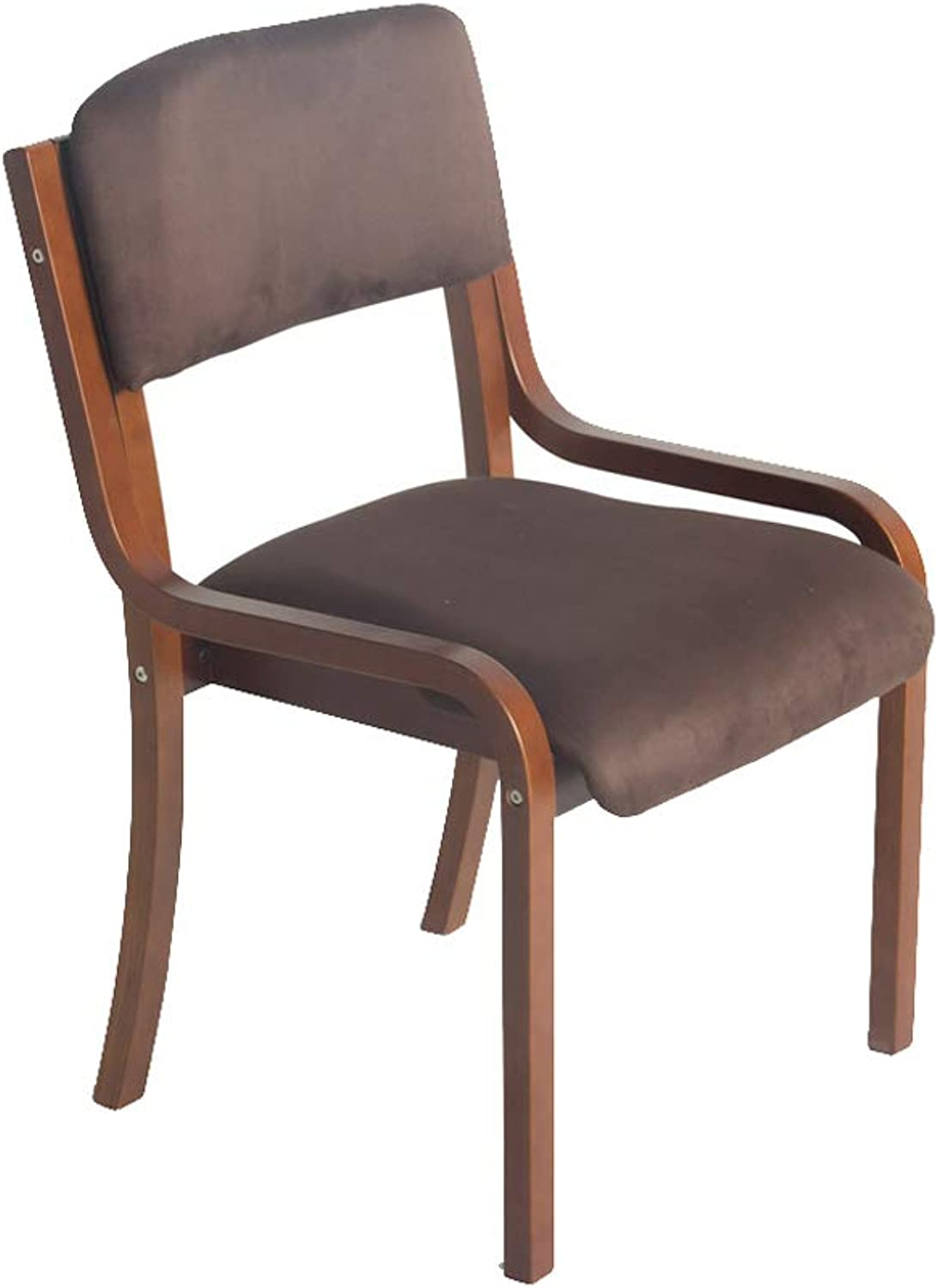 Ailj Chair, Simple Desk Chair Creative Computer Chair Home Chair Dining Chair 53  58  83cm (2 colors) (color   Brown)