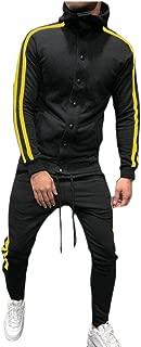 Maweisong Men's Tracksuit Set Sweatshirt Jogger Sweatpants Warm Sports Suit