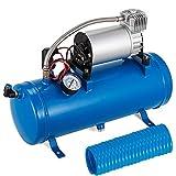 Mophorn Compresseur d'air 6L Compressor 12V Compressor Portable Mini Compresseur (Bleu)