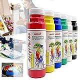 Play malmit® Acrylfarbe 6er Set je 250ml | hochwertige Künstlerfarbe in Seidenmatt | deckende Malfarbe | hohe Pigmentierung | Made in Germany | geeignet für Acryl Pouring Technik