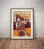 AZSTEEL Vintage Poster Malaysia Penang | Poster No Frame