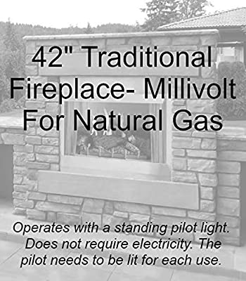 "Empire Comfort Systems Outdoor Traditional 42"" Premium Fireplace OP42FP32MN - Natural Gas"