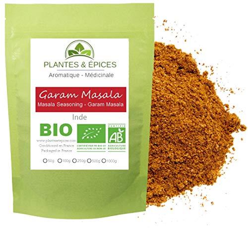 Plantes & Epices - Mélange Garam Masala BIO, épice indienne, réunnionaise et mauricienne, 100% naturel (50g)