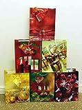 Geschenktüten Medium (Mittel) Weihnachtstasche Weihnachtsbeutel Beutel Geschenktaschen Weihnachten 751 (48 Stück)