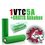NEMT 1 x VTC5A Akku 18660 Akkus Accu batterien (2600mAh/3,7V/35A/Li-Ion)