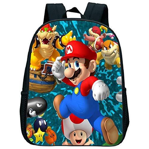 Super Mario Mochila de 12 Pulgadas Super Mario Smash Bros Mochilas Kindergarten Mochila Niño Escuela de los niños en Edad Preescolar Bolsa Niños Niños Niñas Bolsa de bebé WTZ012