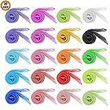 Dadabig 20 Stück Jongliertücher, Tanz Tücher Mehrfarbige