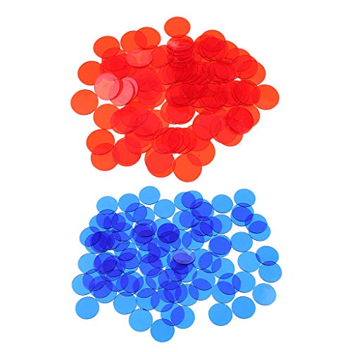 lahomia 200 Marcadores Plásticos de Fichas de Bingo para Juegos de Bingo, Contadores de Tarjetas, Juegos de Navidad
