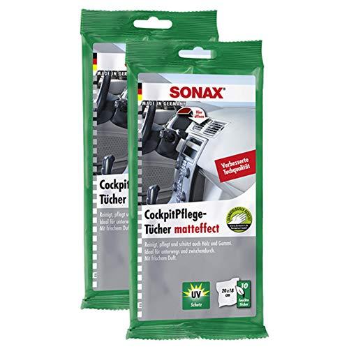 Sonax kunststofverzorging zijdemat 10 stuks auto polijstproducten anti-vorst & doorzichtig ruitenreiniger zwart lakreiniger