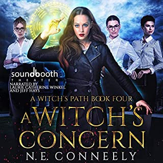 A Witch's Concern     A Witch's Path, Book 4              By:                                                                                                                                 N. E. Conneely                               Narrated by:                                                                                                                                 Jeff Hays,                                                                                        Laurie Catherine Winkel                      Length: 7 hrs and 25 mins     58 ratings     Overall 4.7