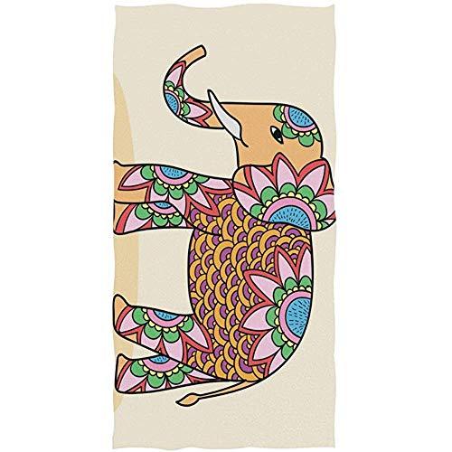 EXking Aquarel-olifant-handdoeken voor de badkamer, decoratieve gasthanddoeken, multifunctioneel voor gymzaal en hotel
