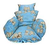 Cuscino a sedie sospese addensata Amaca per oscillazione cuscino per sedile per sedili lavabile perfetto per cestello appeso mat (Color : Blue)