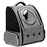 Bubble Cat Backpack Carrier, Space Capsule Bubble Astronaut Pet Carrier Backpack for Large Cat and Small Puppy, Airline Approved Pet Hiking Traveling Backpack