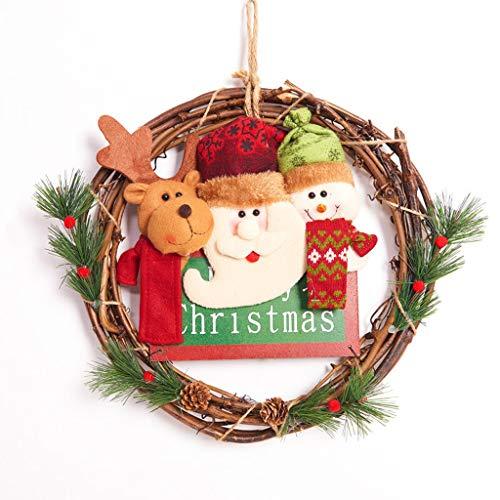 ZHongWei - Corona de Navidad Corona de Navidad, decoración de Navidad, Escaparate,...