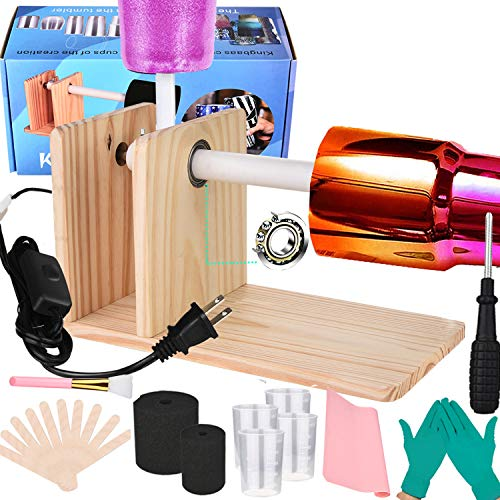 Cup Turner for Crafts Tumbler Spinner Machine Kit Cuptisserie Turner DIY Glitter Epoxy Tumblers with Silent