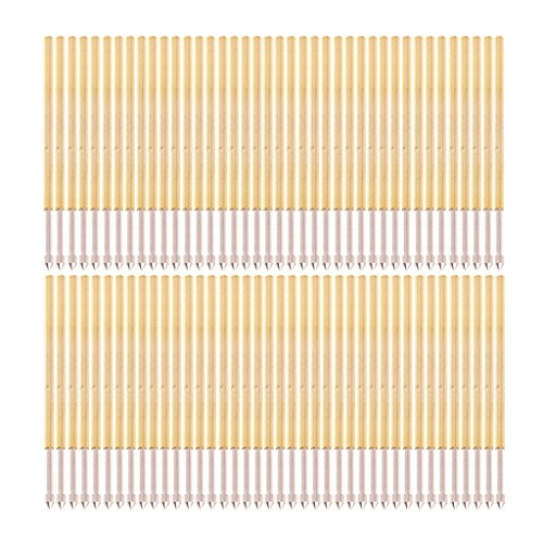 BIlinli 100 Stück Federtestsonde Pogo Pin P100-E2 Durchmesser 1,36 mm Länge 33,3 mm