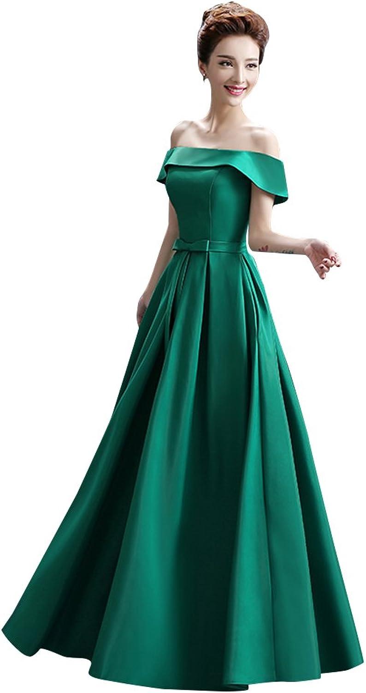 BeautyEmily Boat Neck Satin LaceUp Bowknot Graduation Dresses