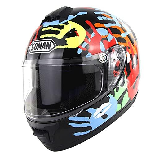 Casco de Motocross Protección Integral, Aerodinámico, Cómodo Casco de Motocicleta para Bicicleta de Calle Unisex Aprobado Por Dot/Ece para Bicicleta de Montaña, Bicicleta de Montaña,#1,L